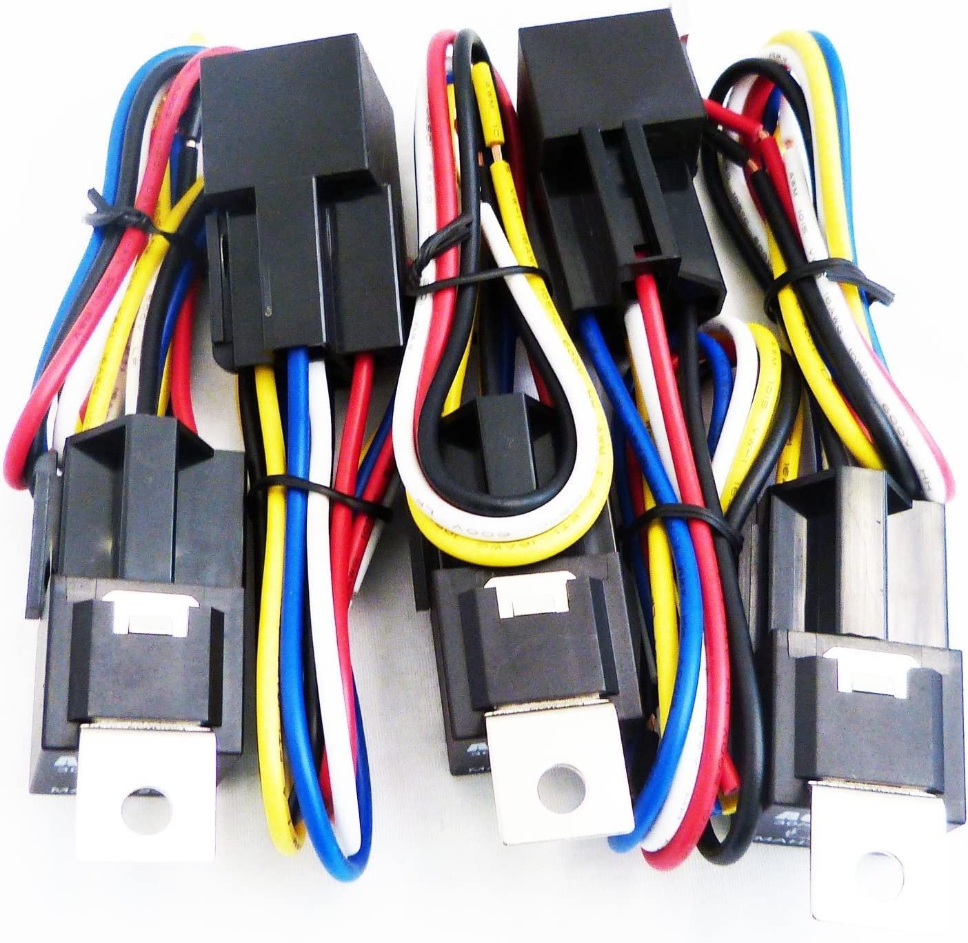 [SCHEMATICS_4JK]  Amazon.com: Genssi 30/40 AMP Auto LED Light Bar Relay Wiring Harness SPDT  12V 40A (Pack of 5): Automotive | Light Bar Wiring Diagram Agt |  | Amazon.com