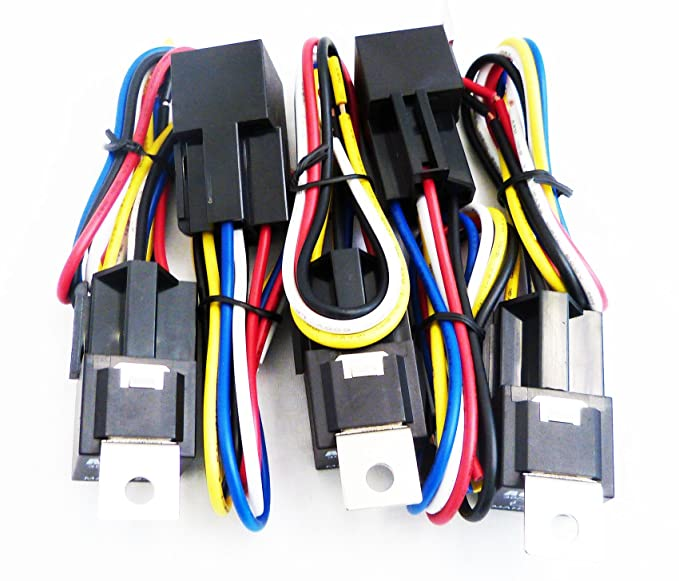 amazon com genssi 30 40 amp auto led light bar relay wiring harness galaxy light bars wiring diagram amazon com genssi 30 40 amp auto led light bar relay wiring harness spdt 12v 40a (pack of 5) automotive