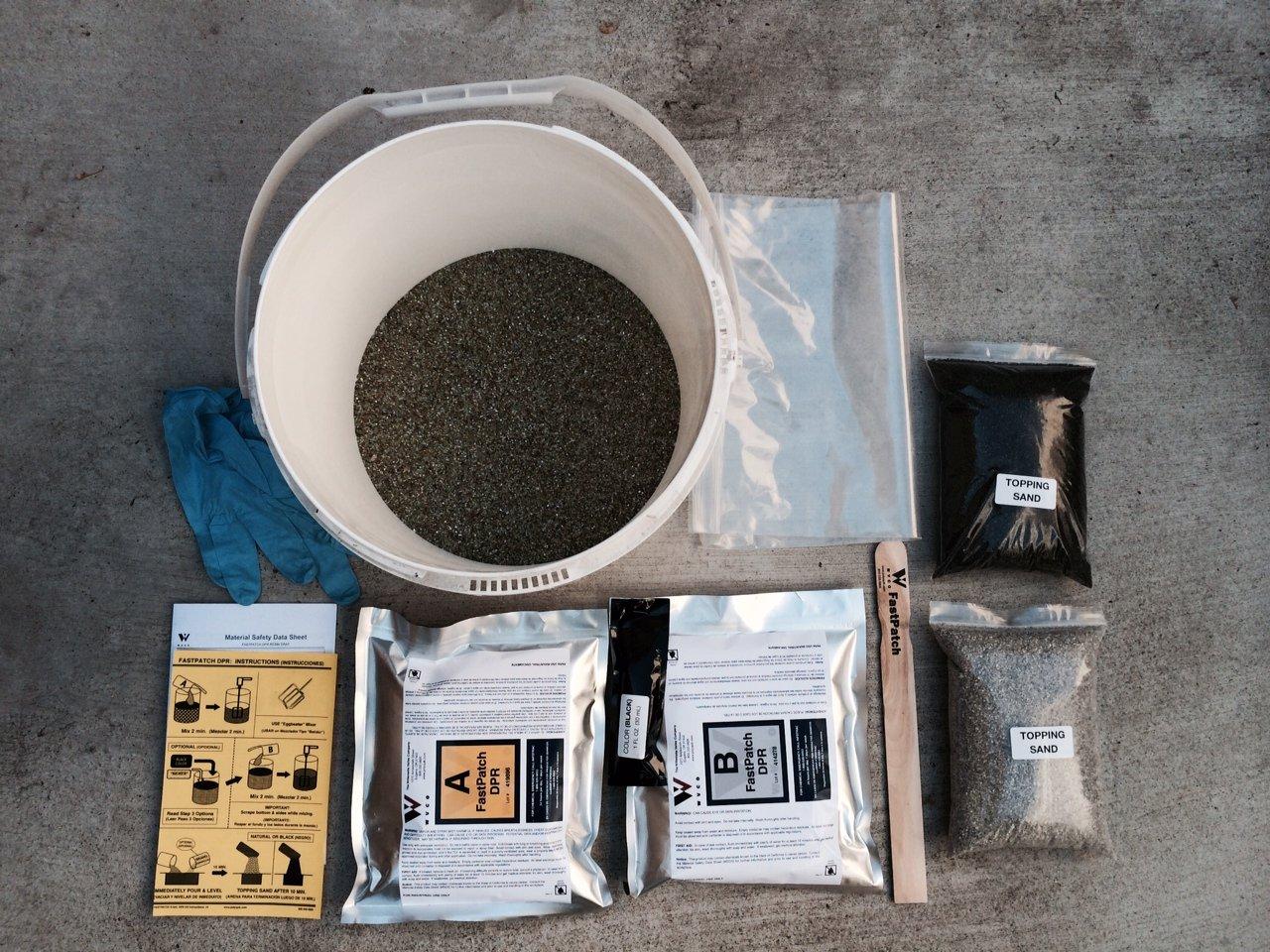 Polymeric Asphalt Patch FASTPATCH DPR Pourable Asphalt Repair 5-Gal Kit