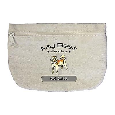 5e2223d2cffe 50%OFF Canvas Zipper Pouch Makeup Bag My Best Friend Is Hokkaido Dog ...