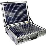 ポータブルソーラー蓄電池『発電バリバリくん』AC100V入出力 トランク型 90000mAh/250W