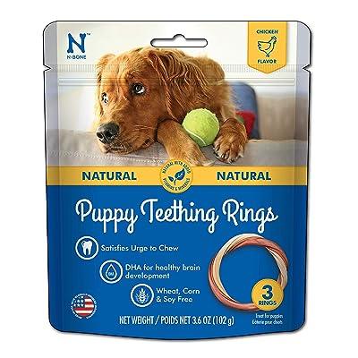 N-Bone Puppy Teething Ring Chicken Chew Treat