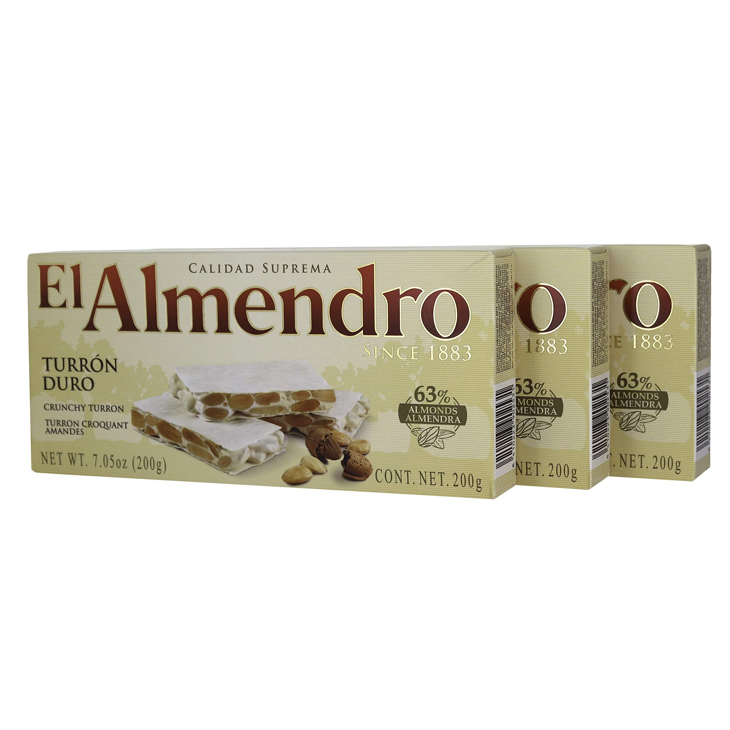 El Almendro Turron Duro Crunchy Nougat - (3 Pack) by El Almendro