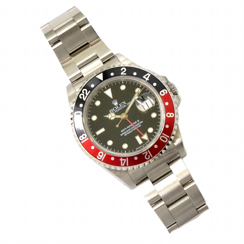ロレックス ROLEX GMT マスター2 腕時計 X番 1991年 AT オートマ 自動巻 SS レッド ブラック 赤 黒 ブラック文字盤 16710 メンズ 中古 B07FMPPNYW