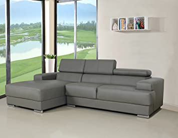 Amazon.com: US Pride Furniture Gabriel Black Leather Contemporary  Facing Left Chaise Sectional Sofa Set: Kitchen U0026 Dining