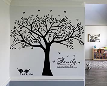 LSKOO Family Photo Frame Tree Wall Decals Family Tree Decal Family Like Branches on a Tree & Amazon.com: LSKOO Family Photo Frame Tree Wall Decals Family Tree ...