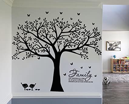 Charmant LUCKKYY Grant Family Tree Wall Decal With Family Like Branches On A Tree  Wall Decal Sticker