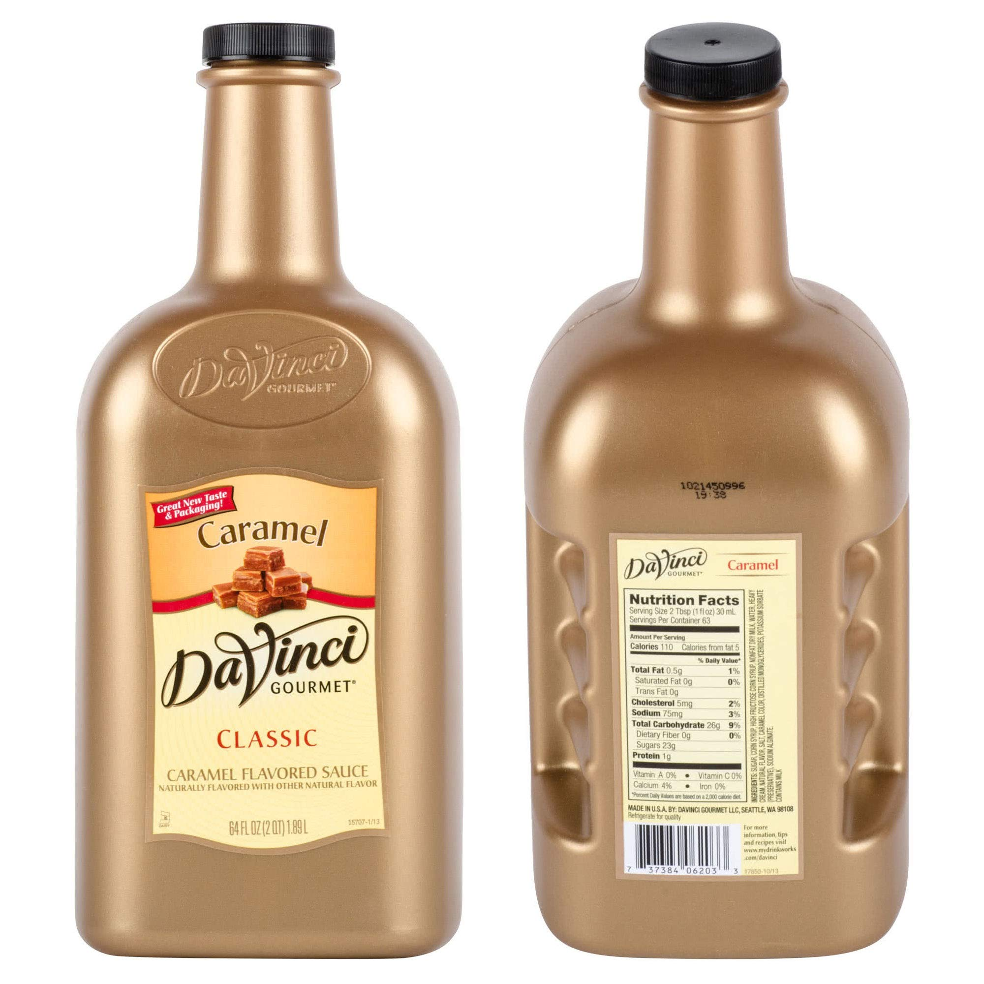 BWS 6 Bottles 64-Ounce DaVinci Gourmet Caramel Flavoring Sauces