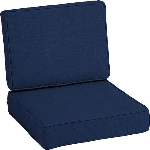 Arden Selections ProFoam Essentials 24 x 24 x 6 Inch Outdoor Deep Seat Cushion Set
