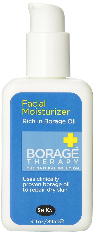 ShiKai Borage Therapy - Daily Facial Moisturizer, Plant-Based Moisturizer For Sensitive & Problematic Skin, Borage Oil Repairs & Rebuilds Skin (Fragrance-Free, 3 Ounces)