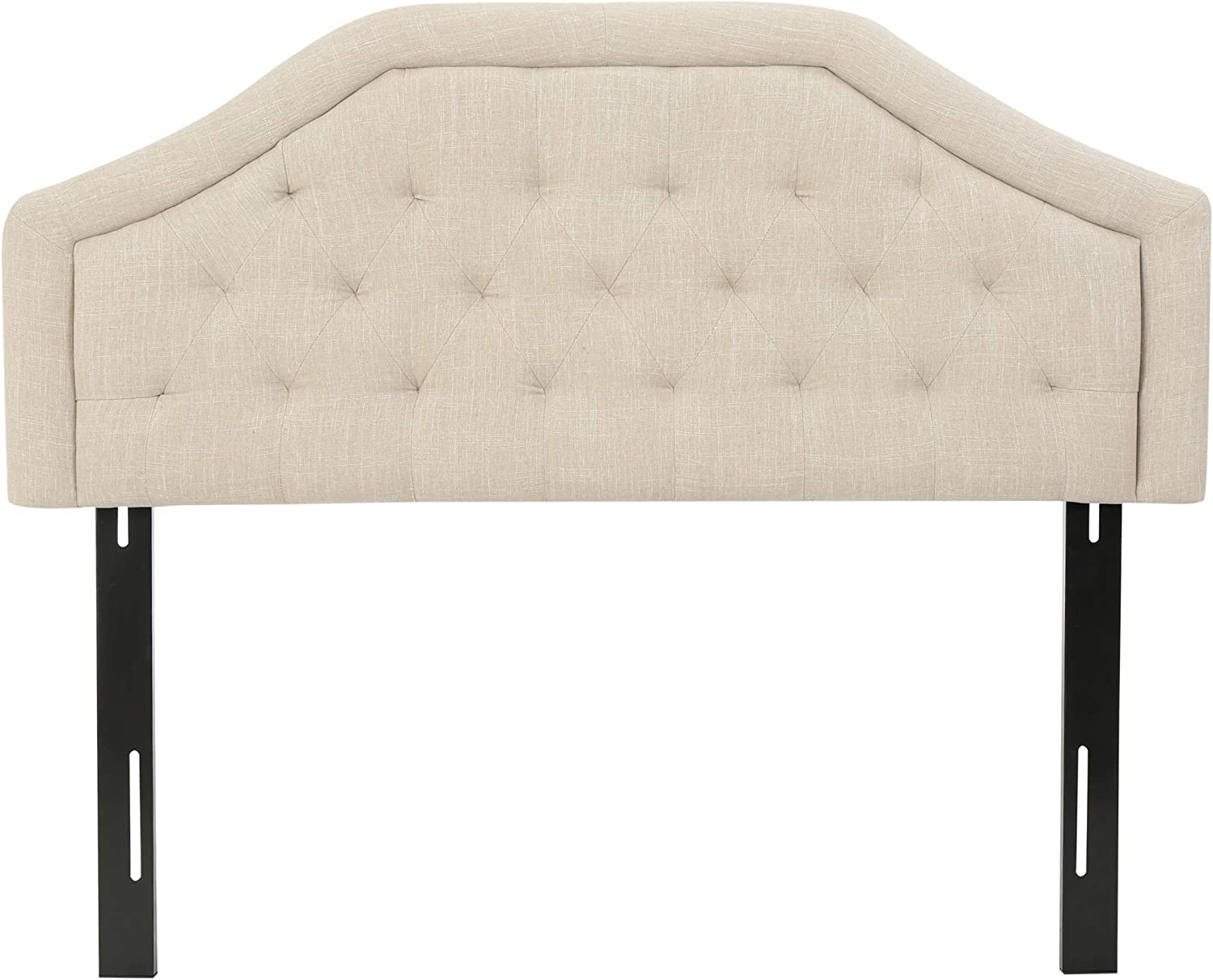 Christopher Knight Home Angelica Tufted Fabric Headboard, Queen / Full, Light Beige