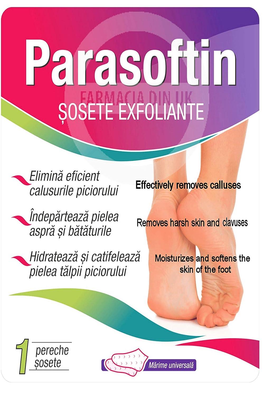 Parasoftin Exfoliating Socks Total Callus Removal Soft Feet Remove Dead Skin ADEX COSMETICS & PHARMA