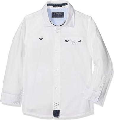Mayoral 4135 Camisa m/l Detalles pañuelo Manga Larga, Blanco ...