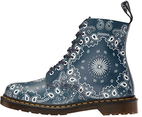 6d0305645351 Dr. Martens Pascal 1460 Navy Bandanal Leather 8 Eyelets Womens Boots ...