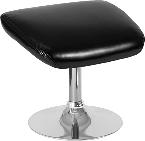 Flash Furniture Egg Series Black LeatherSoft Ottoman