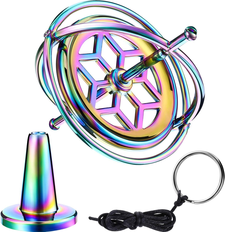 Gyroscope Toupie Anti-Gravite Metal Jouet Balance Gyroscope Cadeau Educatif