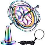 Norme Gyroscope Metal Anti-Gravity Spinning Top Gyroscope Balance Gift Colorful