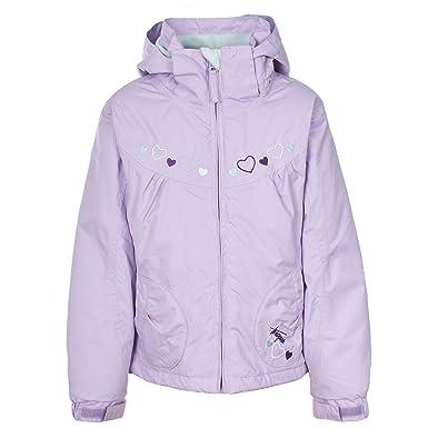 Trespass Amie Girls Waterproof Jacket Padded Hooded Rain Coat for School Walking