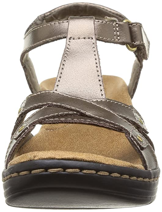 423aab458e3 Clarks Women s Hayla Flute Pewter Metallic Leather Sneakers - 6 UK India  (39.5 EU)  Buy Online at Low Prices in India - Amazon.in
