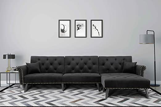 Harper&Bright Designs Sofa Bed Set Sectional Sofa Living Room Furniture  Sofa Set Sleeper Couch Bed Modern Contemporary Upholstered with Extra Wide  ...