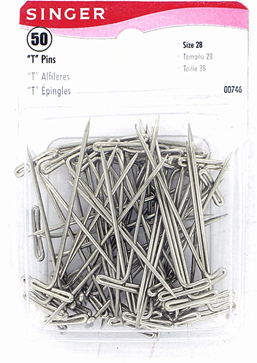 Singer 00746 T-Pins, 50-Count Dyno Merchandise