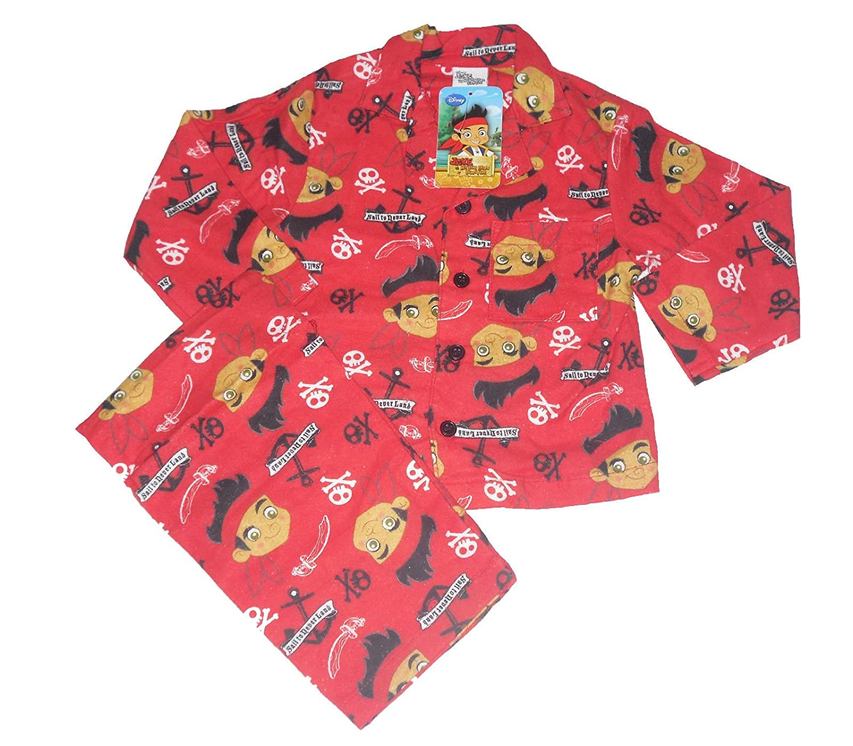 Boys Jake and the Neverland Pirates Pyjamas PJs Sleepwear Wincy Warm Button up