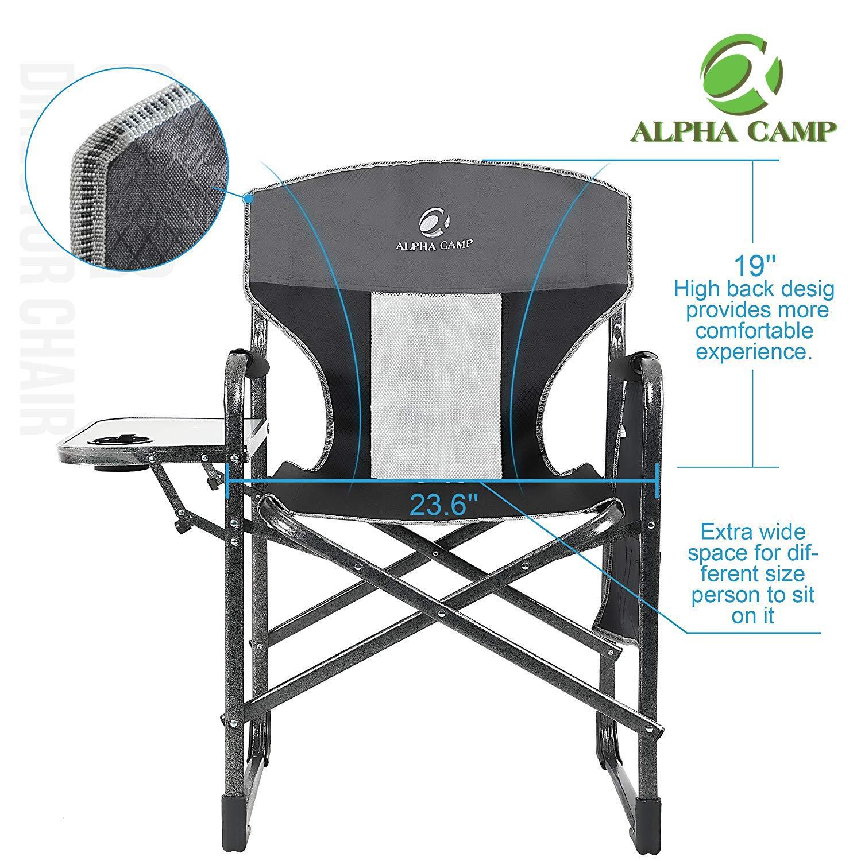 Amazon.com: ALPHA CAMP - Silla reclinable plegable de gran ...