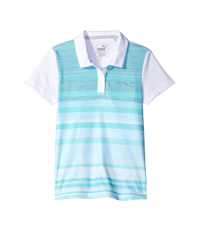 [プーマ] PUMA Golf Kids ガールズ Depths Polo (Little Kids/Big Kids) トップス [並行輸入品] XL (14 Big Kids) ブライトホワイト B072PCKFKH