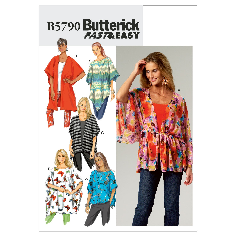 Butterick Schnittmuster 5790 Z Damen Poncho,Cape Gr. L-XL: Amazon.de ...