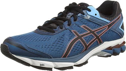 ASICS Gt-1000 4, Zapatillas de Running para Hombre, Azul (Mosaic Blue/Black/Flash Coral 5390), 51.5 EU: Amazon.es: Zapatos y complementos