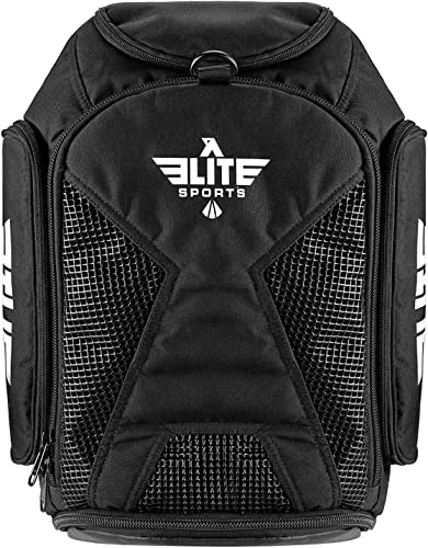 Elite Sports Gym Duffle Bag for MMA, BJJ, Jiu Jitsu, Boxing Gear, Duffel Athletic Expandable Gym Backpack