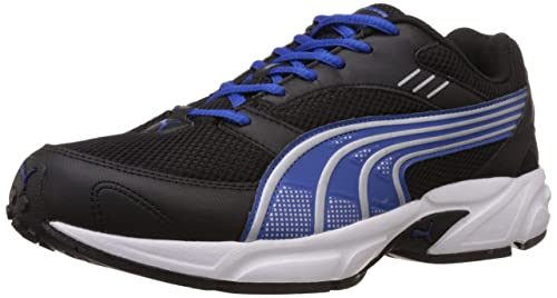 Puma Men s Pluto DP Black-Strong Blue-Silver Running Shoes - 7 UK ... 3772ab10b