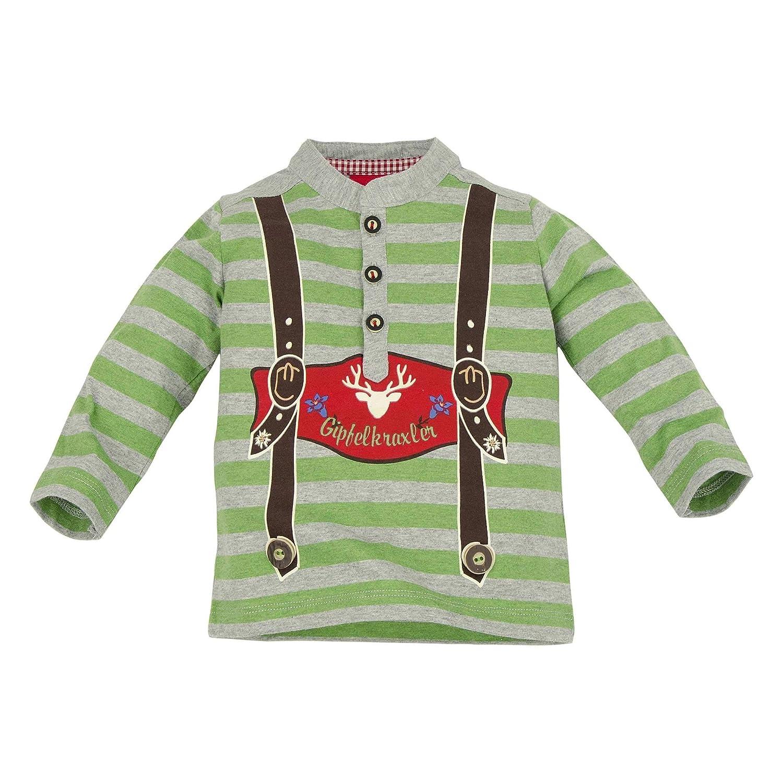 BONDI Poloshirt gestreift ´´Hosenträger´ Tracht Baby Jungs Artikel-Nr.91062