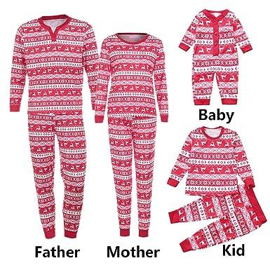 appoi christmas pajamas set for family matching women men kids baby boy girl deer t shirt