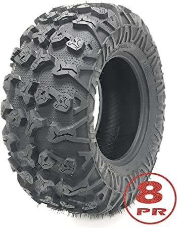 Full Set Free Country ATV//UTV Tires 25x8-12 /& 25x10-12 //8PR w//Side Scuff Guard