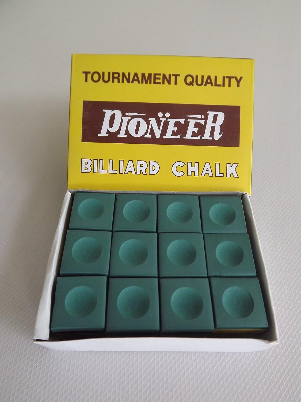Pioneer - Juego de tizas para tacos de billar (12 unidades), color ...
