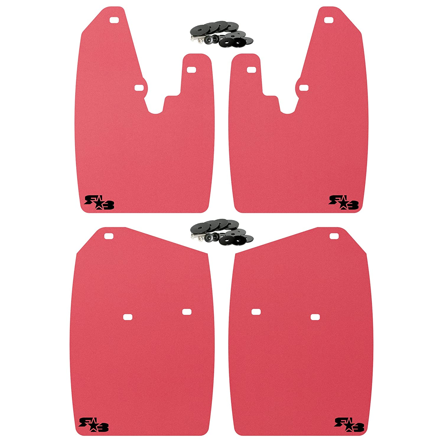 Fits 2010 V2 Large Dodge Mud Guards Come in 2 Sizes for Stock or Lifted//Oversize Tires. 1500 2500 3500 RokBlokz Mud Flaps for Dodge Ram , Black