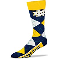 For Bare Feet Notre Dame Fighting Irish Logo Mens Argyle Socks - One Size Fits Most