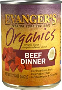 Evanger's Organics Dinner for Dogs - 12, 12.5 oz cans