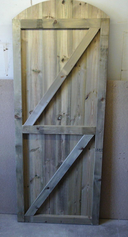 smilewoodcraft Wooden Garden Gates (83cm (W) x 180cm (H) x 5cm (D))