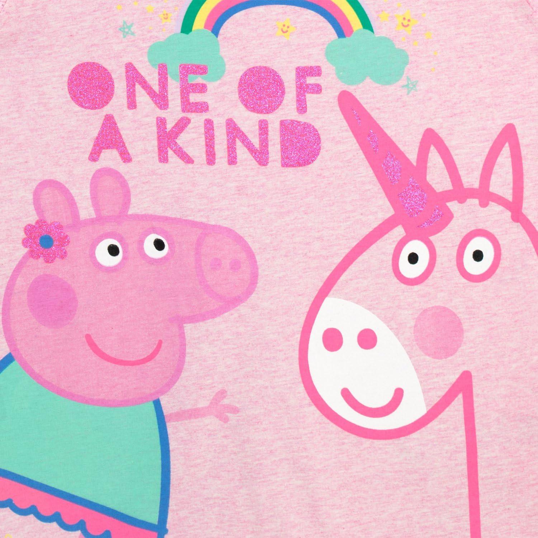 Peppa Pig Girls Peppa /& Unicorn T-Shirt