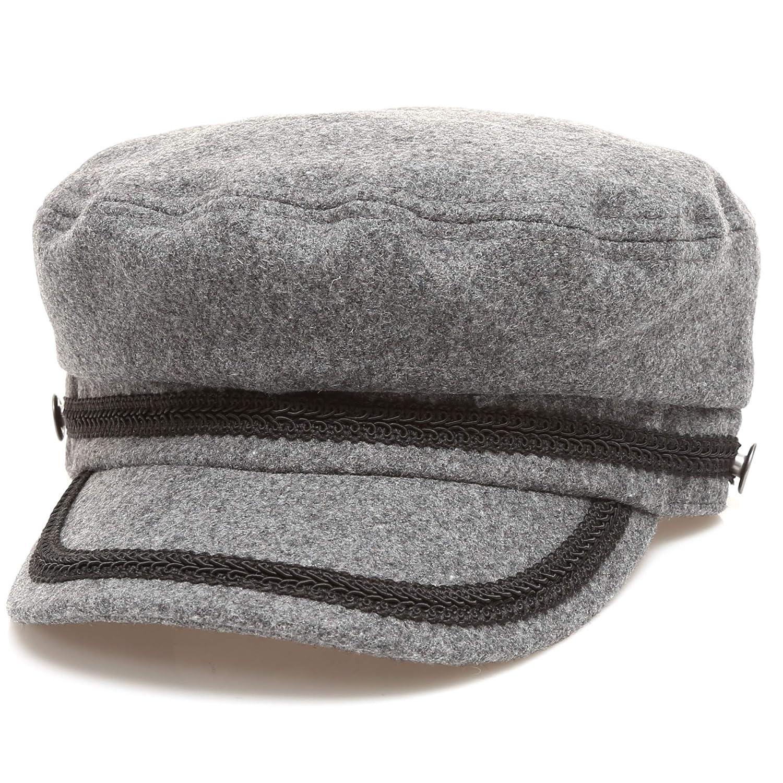 ... MIRMARU Women s Winter Greek Sailor Fisherman Cabbie Cap Newsboy Baker  boy hat with Elastic Band Black ... c8d4000137e6
