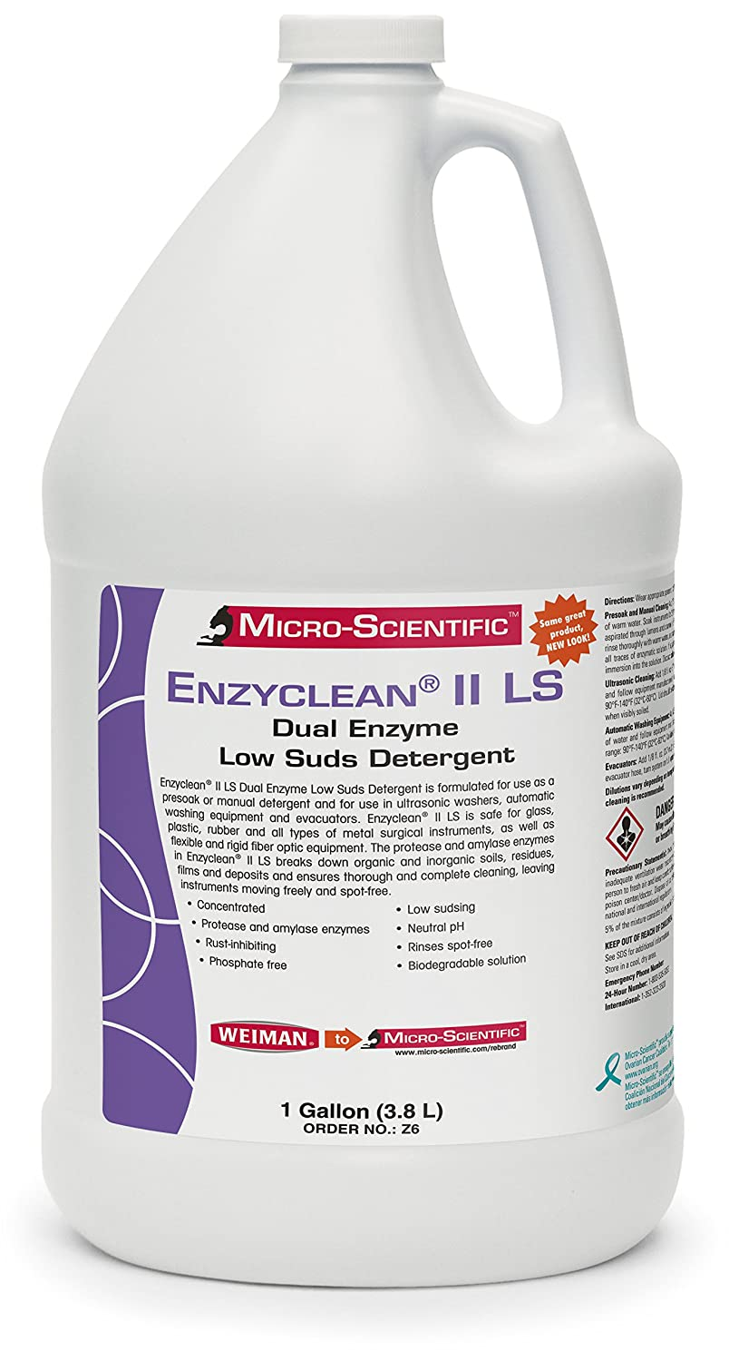 Micro-Scientific Z6 Enzyclean II LS Dual Enzyme Low Suds Detergent for Healthcare/Surgical Instruments