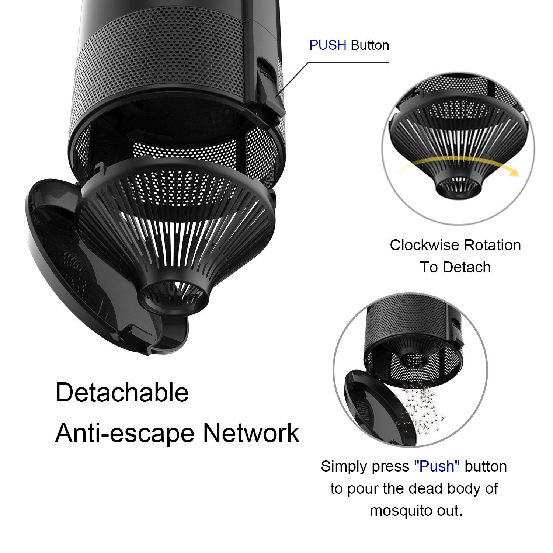 ETRONG Bug Zapper, Electronic Insect Mosquito Fly Killer, Non-Toxic USB Mosquito Trap Trap para Interiores y Exteriores: Amazon.es: Jardín