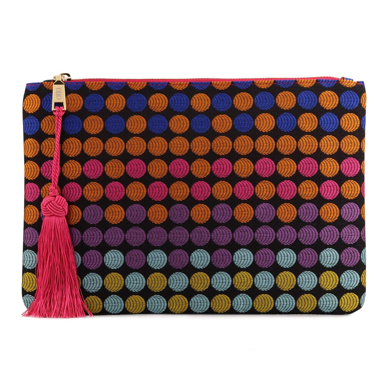 Otto Designer Women's Bohemian Clutch Purse - Multiple Slots Money, Cards, Smartphone - Ultra Slim (Dots)