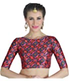 Studio Shringaar Women's Digital Print Poly Silk Saree Blouse