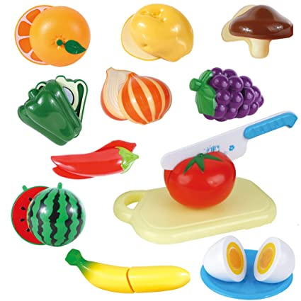 Automobiles & Motorcycles 22 Pcs Food Sliceable Fruit Vegetable Cutting Kids Pretend Play Educational Kitchen Cooking House Toy Safe Learning Resources