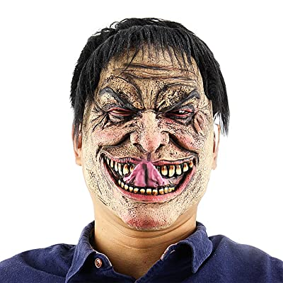 QTMY Latex Rubber Ugly Horrible Monster Mask for Halloween Party Costume (1) : Sports & Outdoors