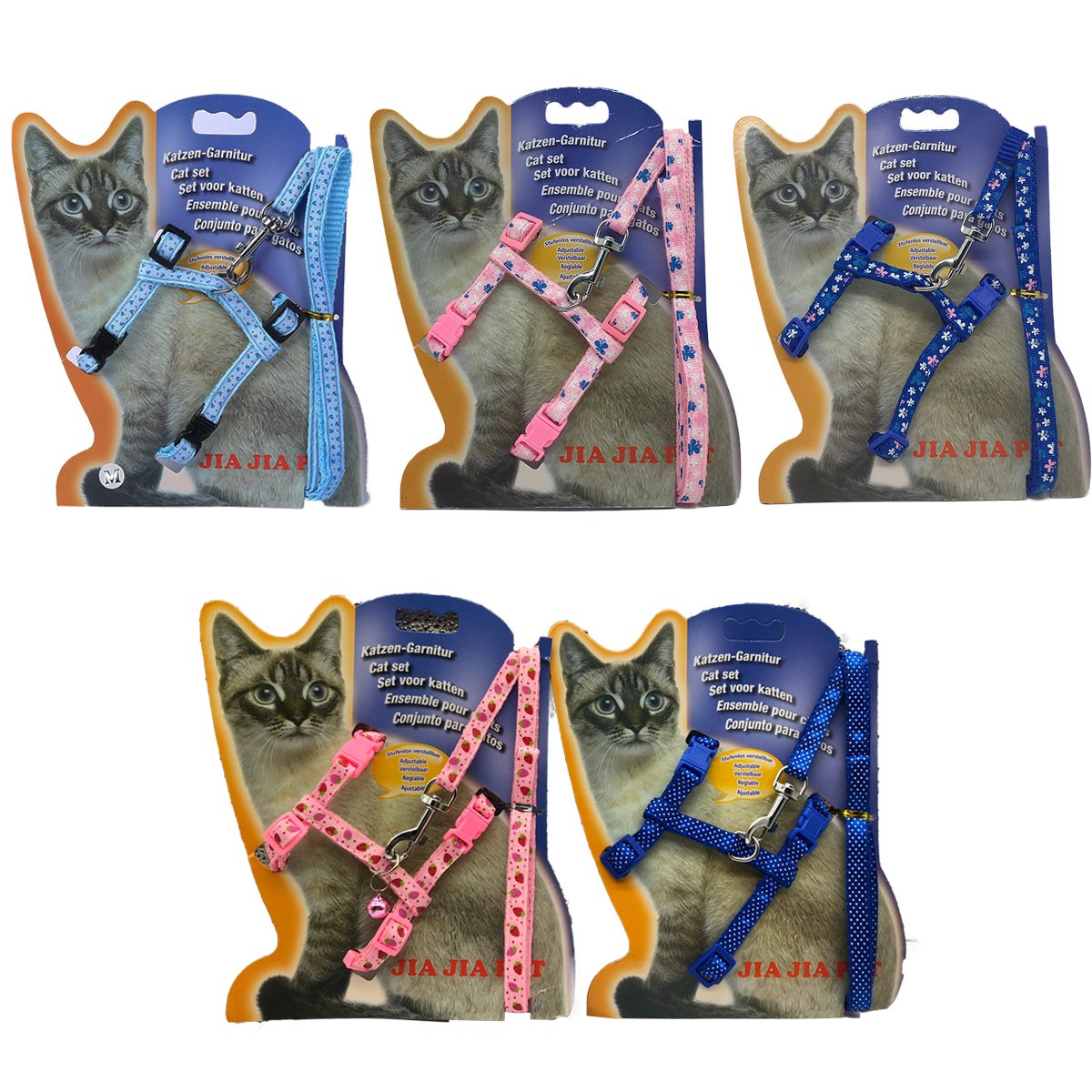 WORDERFUL Cat Harness and Leash Set Adjustable Pet Harness Vest 2 Pack for Small Animal Pattern Random by WORDERFUL (Image #2)