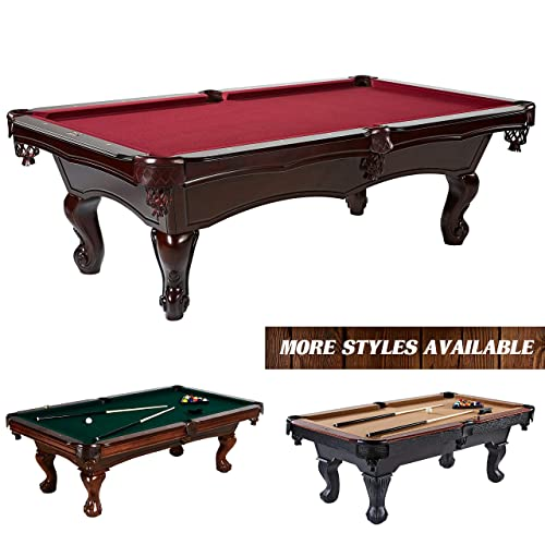Barrington Claremont Slate Billiard Table Set 100-Inch Wooden Game Room Pool Table – Premium Heavy Duty Queen Anne Leg Billiard Table with Wool Cloth